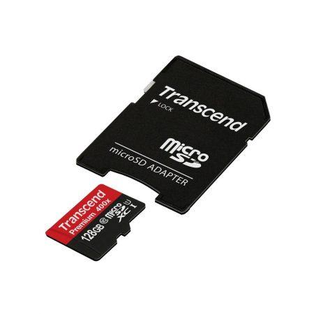 خرید کارت حافظه 128 گیگابایت Transcend microSDXC 400x 128GB
