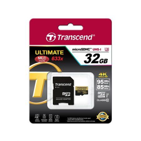 خرید کارت حافظه ترنسند 32 گیگابایت Transcend microSDHC 633x 32GB