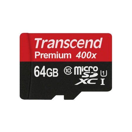 خرید کارت حافظه ترنسند 64 گیگابایت Transcend microSDXC 400x 64GB
