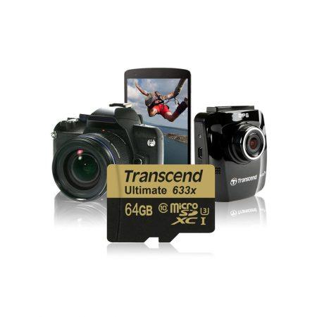 خرید کارت حافظه ترنسند 64 گیگابایت Transcend microSDXC 633x 64GB