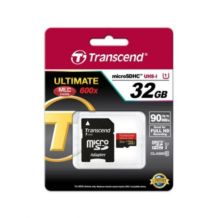 خرید کارت حافظه ترنسند 32 گیگابایت Transcend microSDHC 600x 32GB