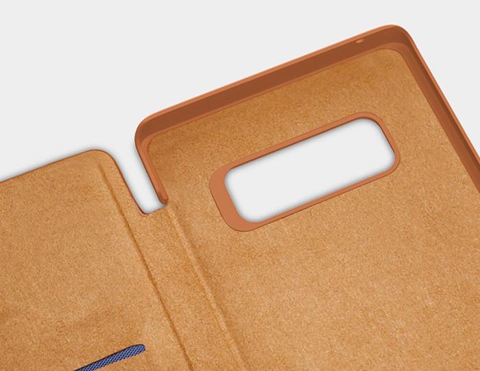 بامپر محافظتی کیف چرمی نیلکین گلکسی نوت 8