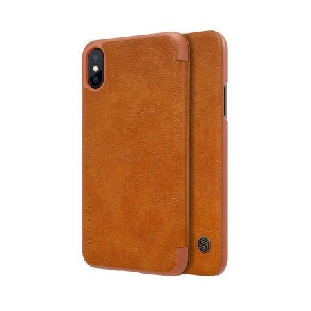 خرید کیف چرمی نیلکین گوشی موبایل اپل Nillkin Qin Apple iPhone X