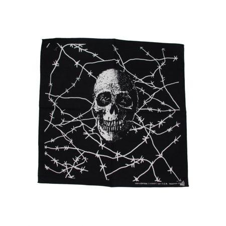 خرید دستمال سر و گردن طرح اسکلت جمجمه کد D611