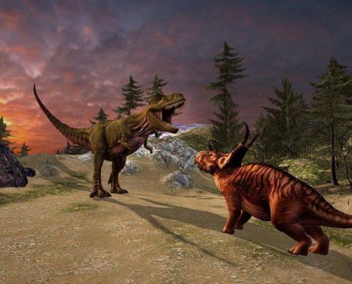 بازی در دنیای دایناسورها