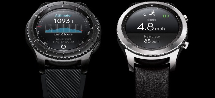 نسخه Frontier در کنار Classic ساعت Gear S3
