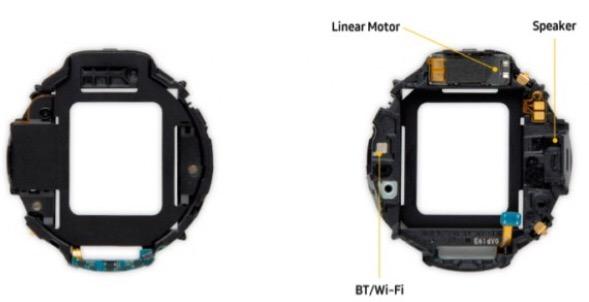 محتویات بدنه Samsung Gear S3