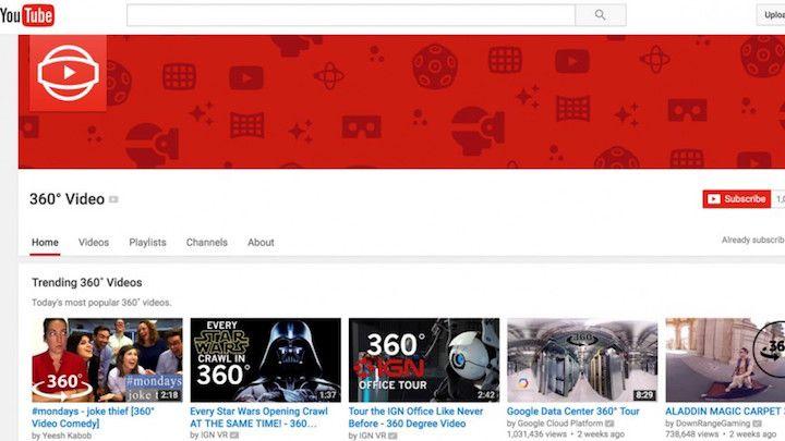 واقعیت مجازی روی یوتیوب