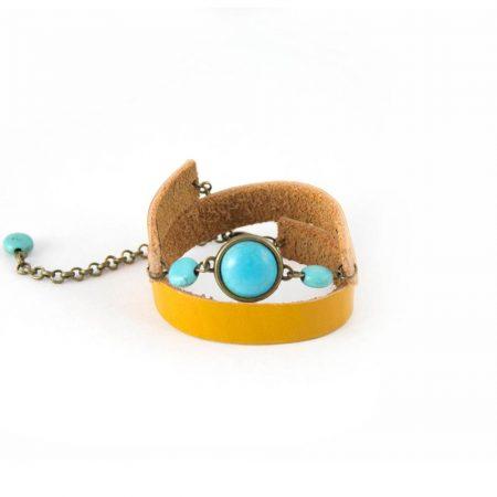 خرید دستبند چرم ژوست کد 417