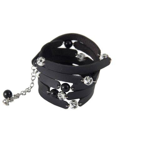 خرید دستبند چرم ژوست مدل چهل تکه کد 412
