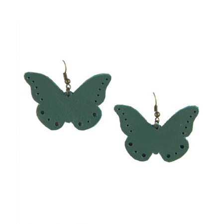 خرید گوشواره چرم ژوست مدل پروانه کد 314