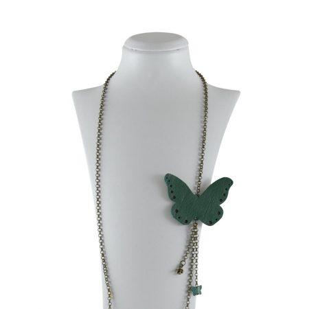 خرید گردنبند ژوست مدل پروانه کد 114