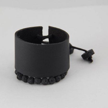 دستبند چرمی ژوست مدل مچ بند پهن کد 416