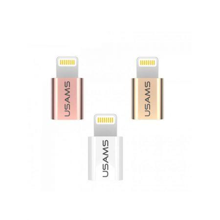 خرید آداپتور مبدل لایتنینگ به میکرو USB برند یوسامز مدل US-SJ049
