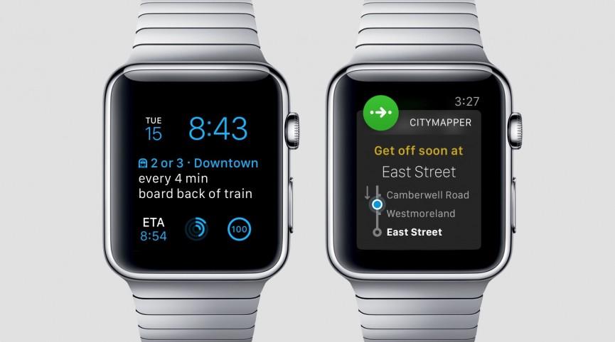 اپلیکیشن Citymapper برای ساعت هوشمند Apple Watch