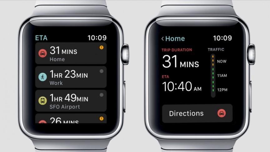 اپلیکیشنی برای محاسبه زمان جابهجایی و مسافرت درون شهری اپل واچ