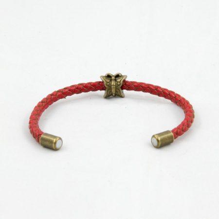خرید دستبند چرم بافت ژوست کد 435
