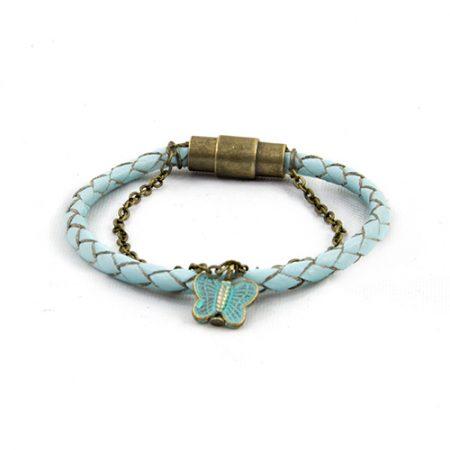 خرید دستبند چرم بافت ژوست کد 449