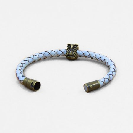 خرید دستبند چرم بافت ژوست مدل جغد کد 448