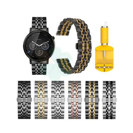 خرید بند استیل رولکسی ساعت موتورولا موتو 360 نسل دوم