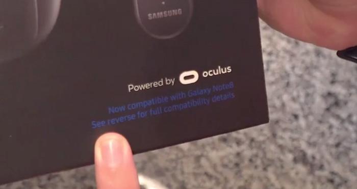 آن باکسینگ هدست واقعیت مجازی سامسونگ Gear VR Note8 Edition