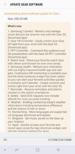 بهروزرسانی ساعت Gear S3