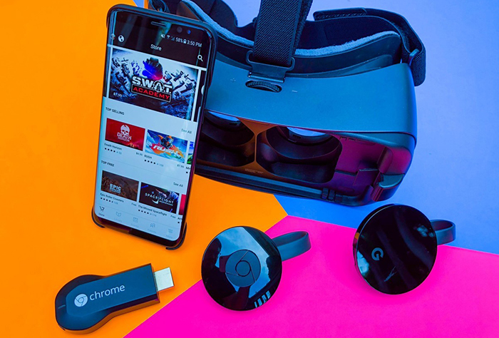 استفاده از کروم کست به همراه هدست واقعیت مجازی سامسونگ Gear VR