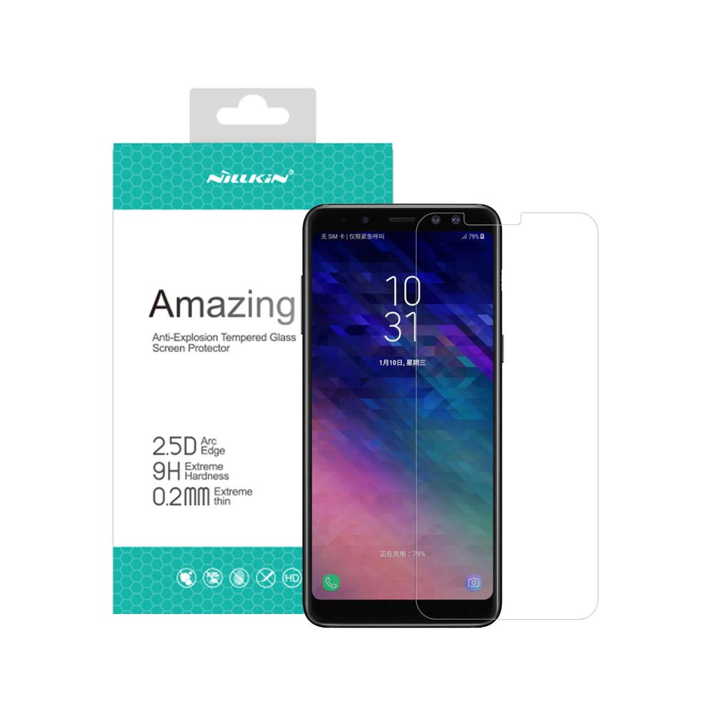 خرید گلس نیلکین گوشی موبایل Nillkin H+ Pro Samsung Galaxy A8 2018
