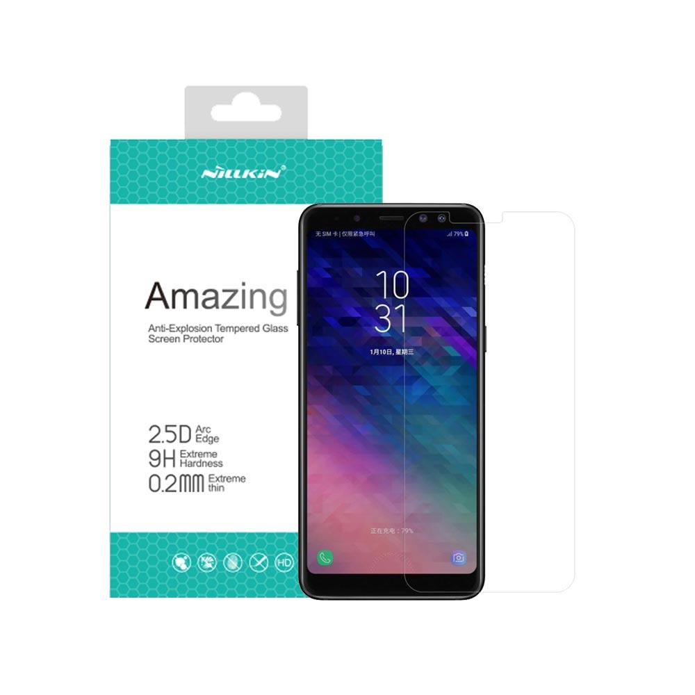 خرید گلس نیلکین گوشی سامسونگ Nillkin H+ Pro Galaxy A8 Plus 2018