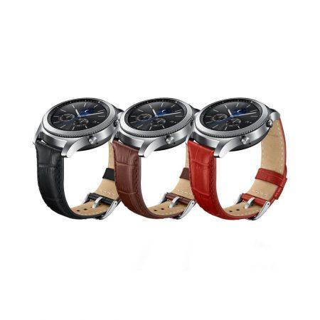 قیمت خرید بند چرمی اصلی ساعت سامسونگ Gear S3 Alligator Grain Leather