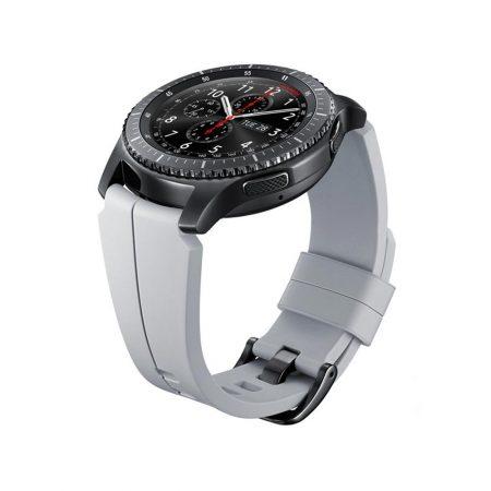 قیمت خرید مشخصات، قیمت و خرید بند سيليکونی اصلی ساعت سامسونگ Gear S3 Arik Levy Fractal Silver - بند سیلیکونی ساعت هوشمند سامسونگ گیر اس 3، دارای وزن کم، جنس نرم و منعطف
