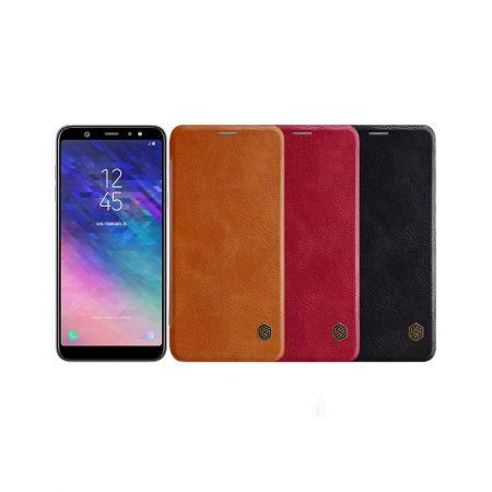قیمت خرید کیف چرمی نیلکین گوشی Nillkin Qin Samsung A6 Plus 2018