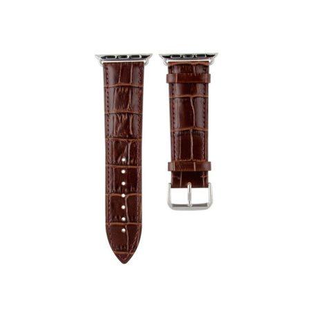 قیمت خرید بند اپل واچ چرمی مدل Alligator Leather سایز 38 میلی متری