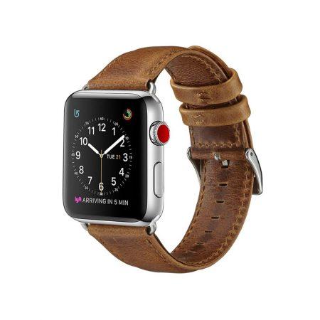 قیمت خرید بند چرمی اپل واچ 38 میلی متری مدل Genuine Leather