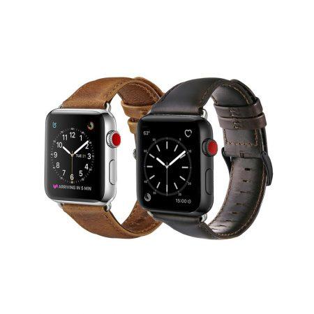 قیمت خرید بند چرمی اپل واچ 42 میلی متری مدل Genuine Leather