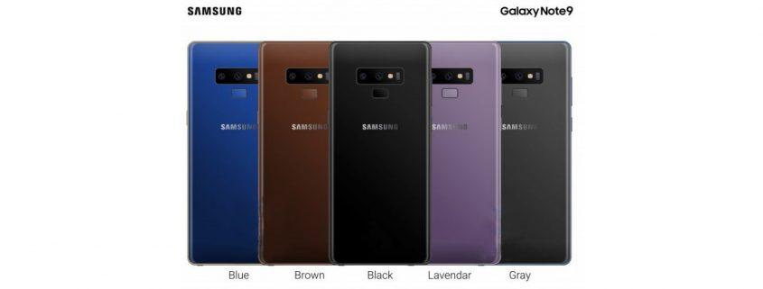 رنگ بندی گوشی هوشمند سامسونگ Galaxy Note9