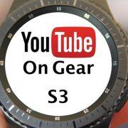 آموزش ویدیویی پخش ویدیو از یوتیوب با ساعت سامسونگ Gear S3