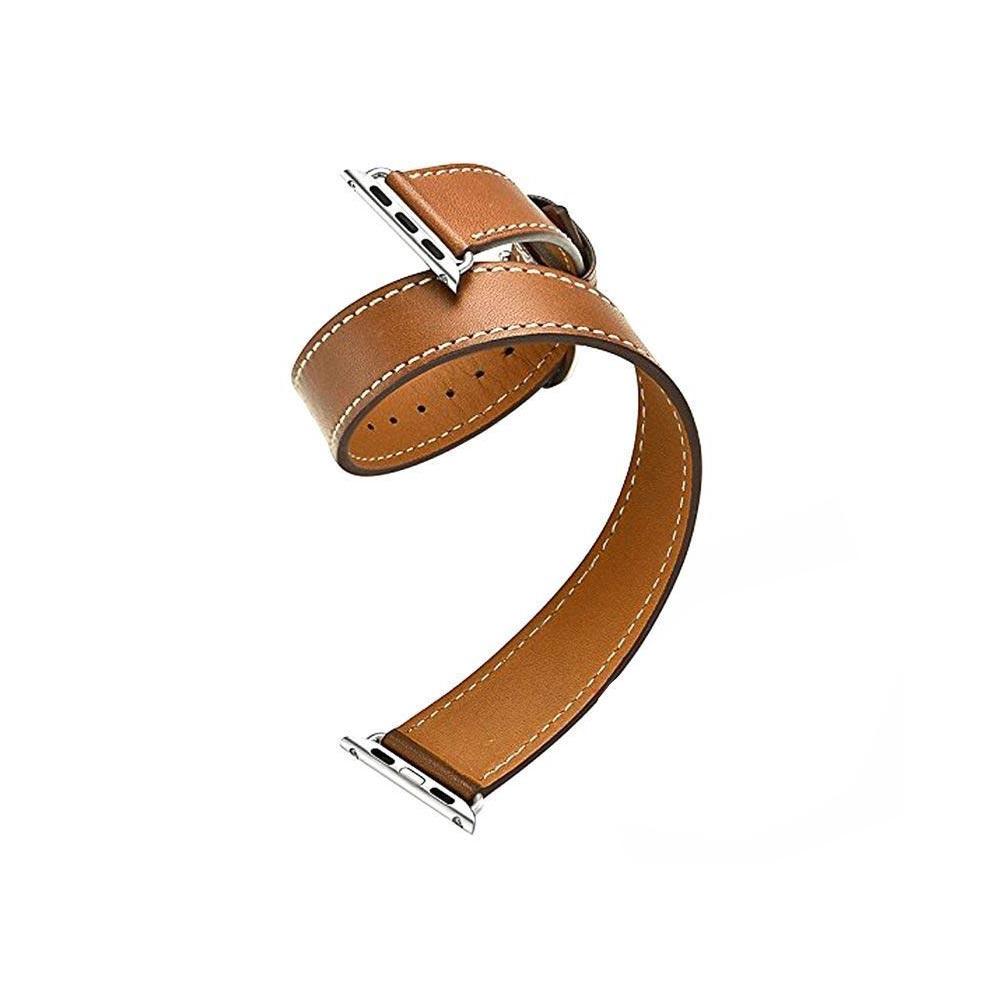 قیمت و خرید بند ساعت اپل واچ 38 میلی متر چرمی مدل Double