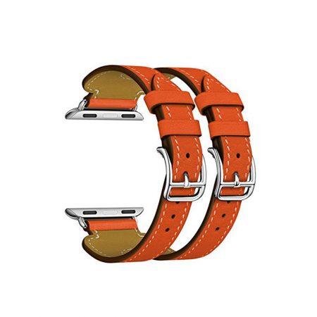 قیمت خرید بند چرمی طرح هرمس اپل واچ 42 میلی متری مدل Double Buckle