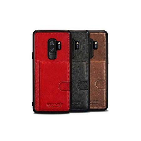 قیمت خرید کیف چرمی گوشی سامسونگ Galaxy S9 Plus مدل پیرکاردین P11