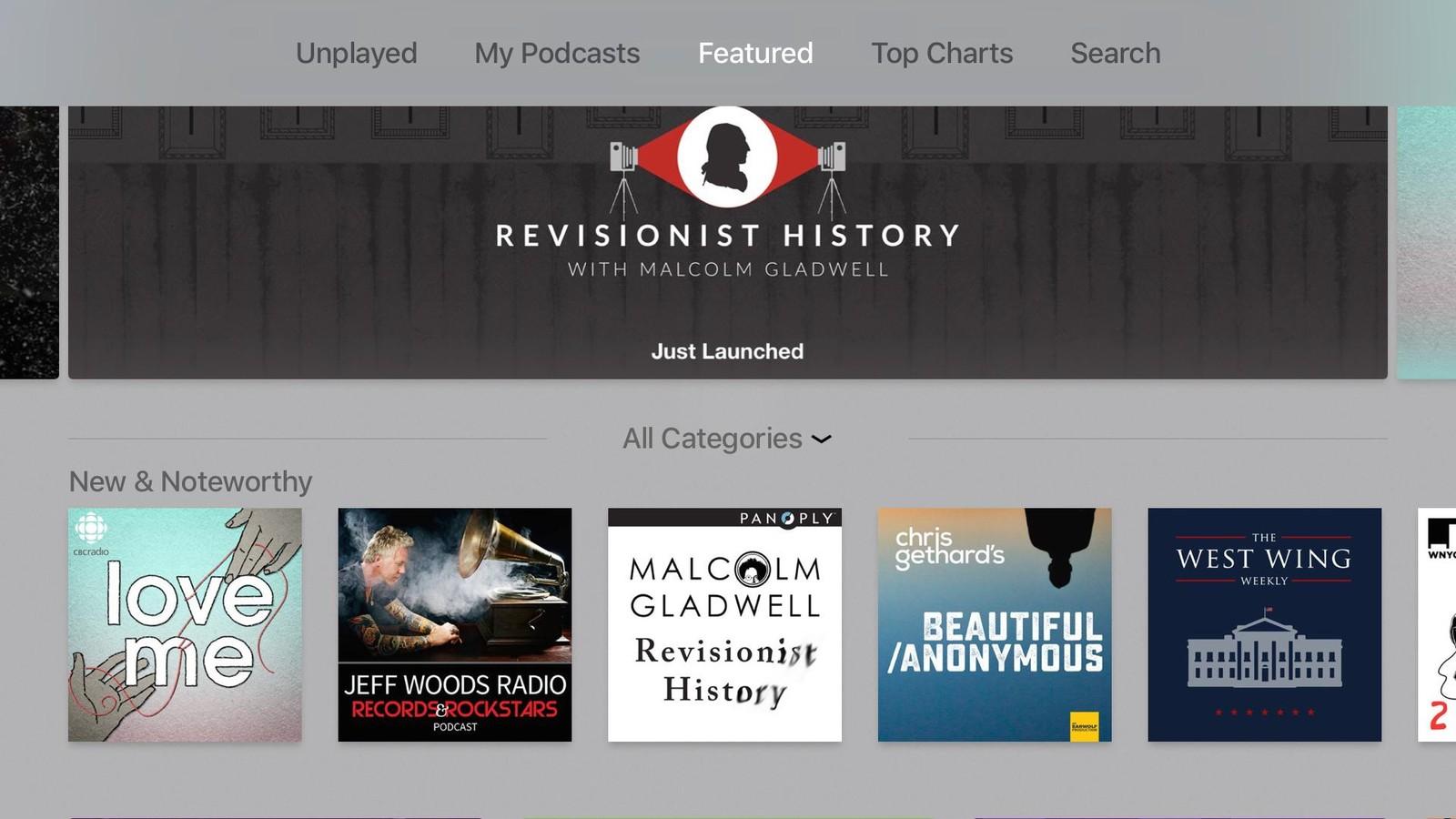 اشتراک پادکست در Apple TV