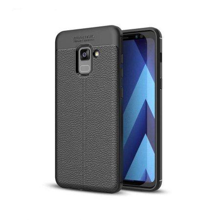 قیمت خرید کاور چرمی اتو فوکوس مناسب گوشی Samsung A8 Plus 2018