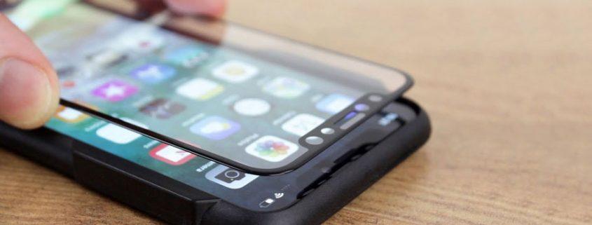 روش نصب گلس خم ۳D دور چسب روی صفحه نمایش گوشی خمیده