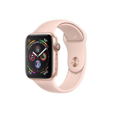 قیمت خرید ساعت هوشمند اپل واچ 4 Gold Aluminum Case with Pink Sport Band 40mm