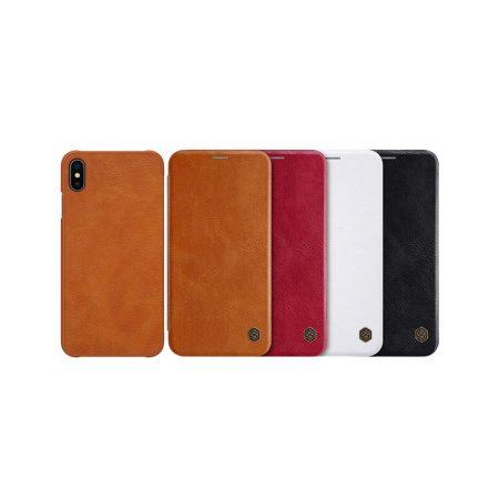 قیمت خرید کیف چرمی نیلکین گوشی آیفون iPhone XS Max مدل Nillkin Qin