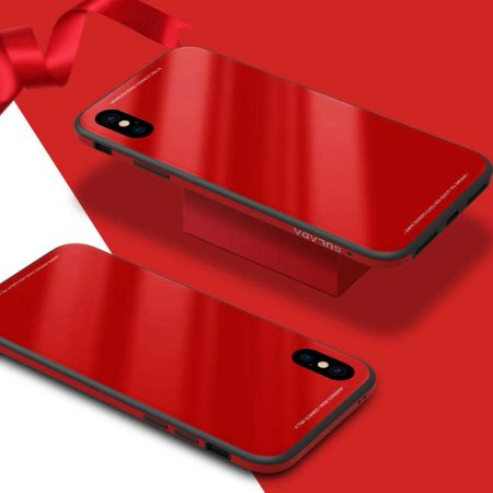 قیمت خرید قاب پشت گلس گوشی آیفون 10 - iPhone X مدل JZZS