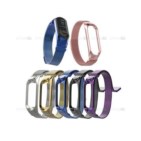 خرید بند دستبند شیائومی می بند 3 - Mi Band 3 مدل فلزی حصیری