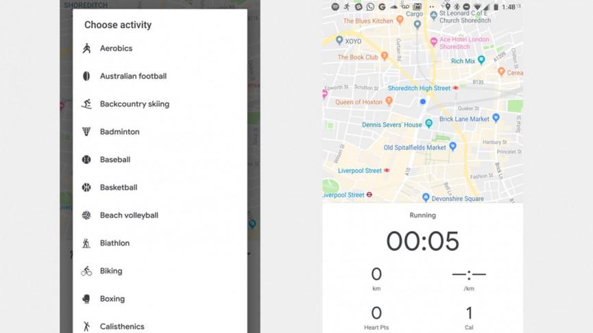 برنامه ورزشی google fit