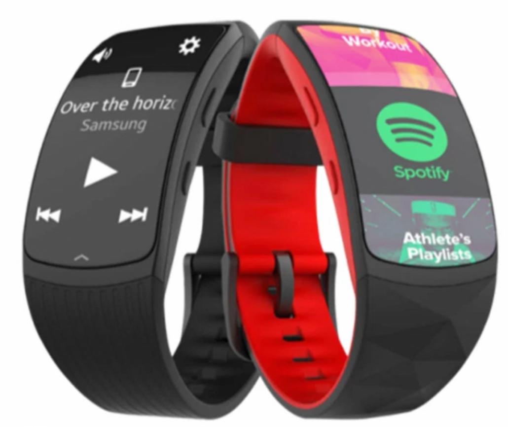 اسپاتیفای آفلاین مچ بند هوشمند سامسونگ Samsung Gear Fit 2 Pro