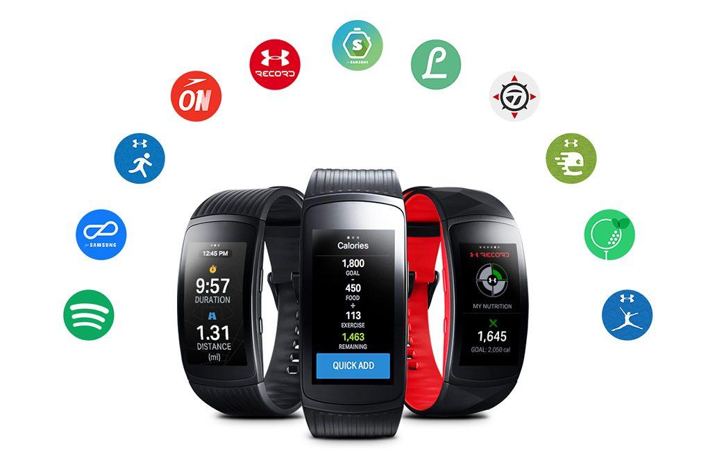 نرمافزارهای مچ بند هوشمند سامسونگ Samsung Gear Fit 2 Pro